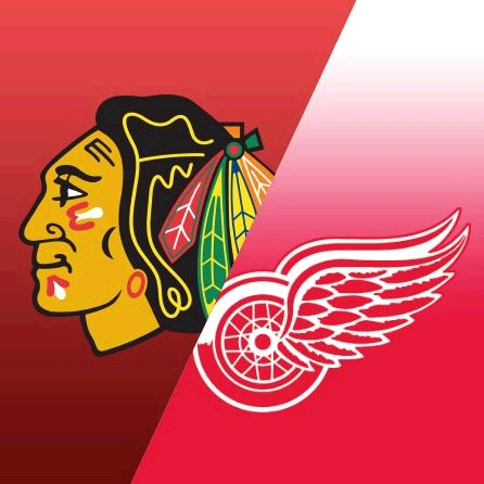 Blackhawks vs Red Wings Hockey by Lakefront Toledo