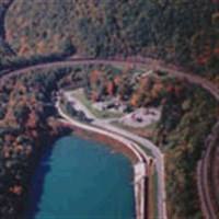 Boxcar Escapade on Horseshoe Curve by Lenzner