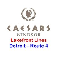Caesars Windsor Detroit Route 4 - Lakefront Toledo