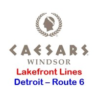 Caesars Windsor Detroit Route 6 - Lakefront Toledo